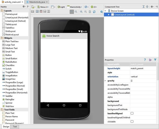 use voice search in android studio. Black Bedroom Furniture Sets. Home Design Ideas
