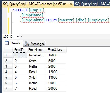 Row number function with partition by clause in sql server for Table design sql server
