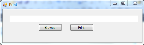 print pdf document using c