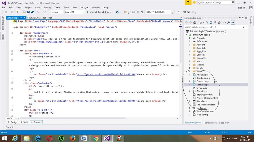 Start With MVC Architecture In ASP.NET And Visual Studio