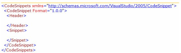 HeaderandSnippetsectioninxmlfileinvisualstudio.jpg