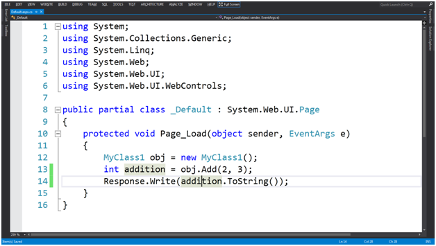 Call Visual Basic Function in C# Page - DZone Web Dev