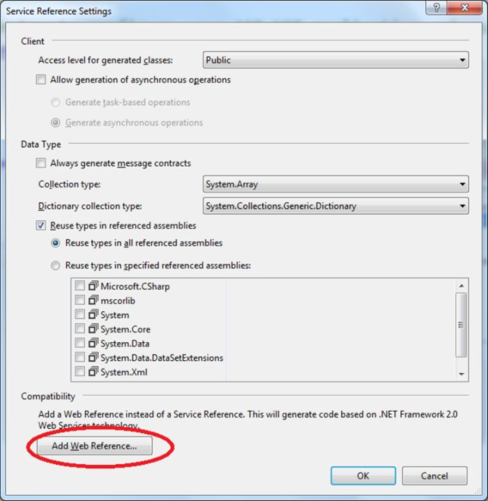 How to access a web service in console application for Consol service