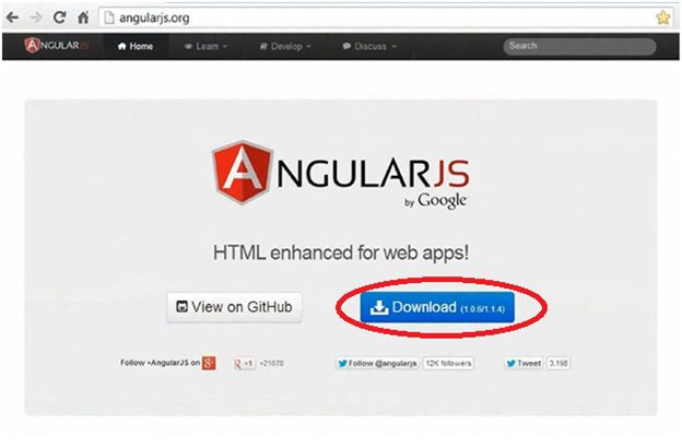 Download the Angular