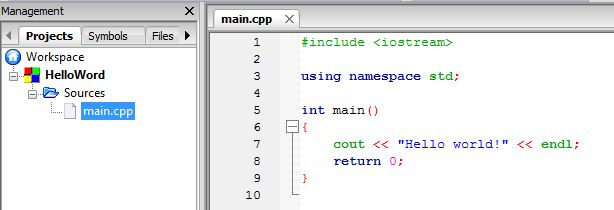 cpp file default code