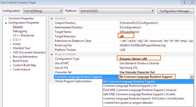 Executing assembly code in c Execute c code