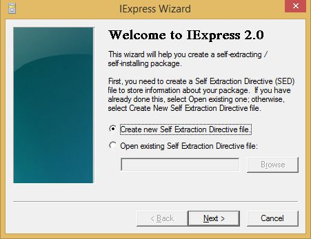 Welcome to IExpress 2.0