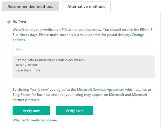 Alternative Method