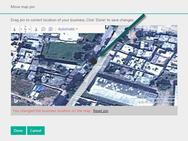 set your location of your business