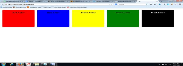 CSS 3 Design in Web Browser