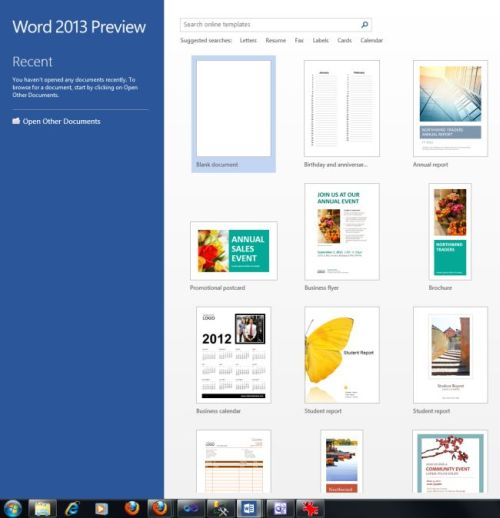online templates for word