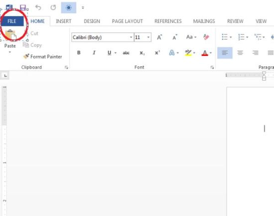 working with resume reading in word 2013