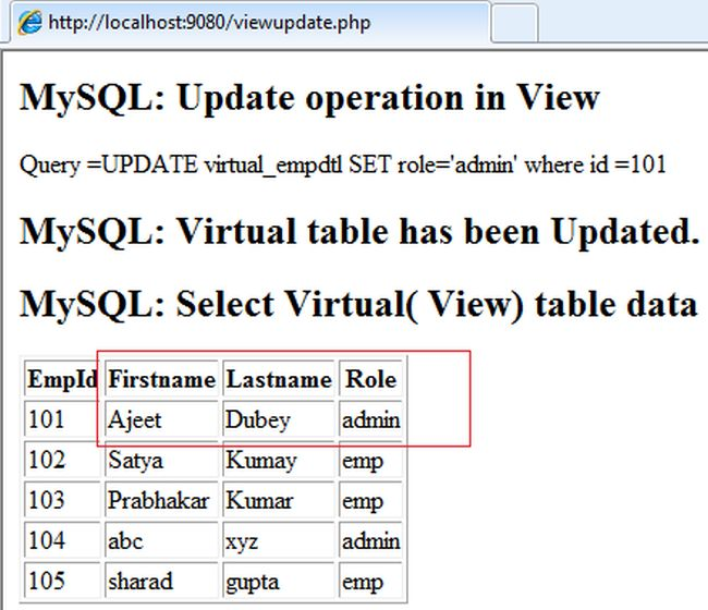 Use View In Php