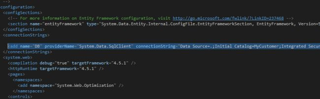 Add a connection string