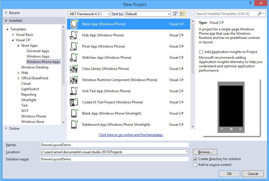 Implementing Navigation Drawer For Windows Phone 8.1