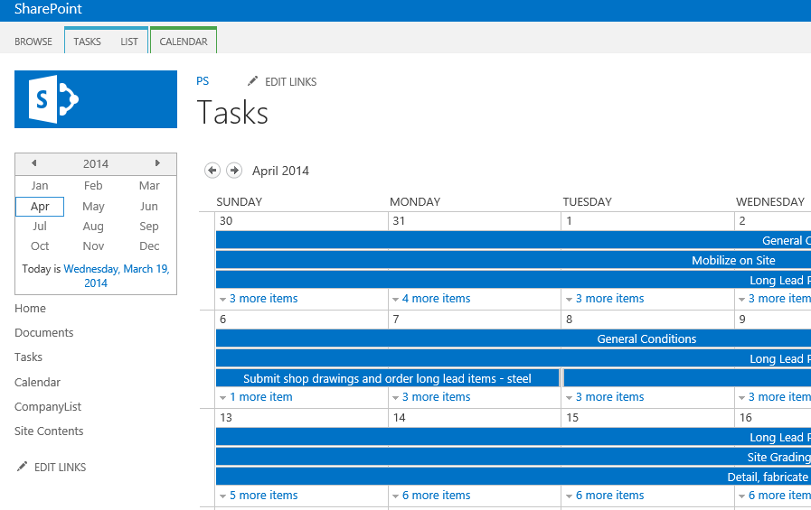 how to create a task list in sharepoint 2013