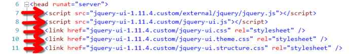 jQuery files