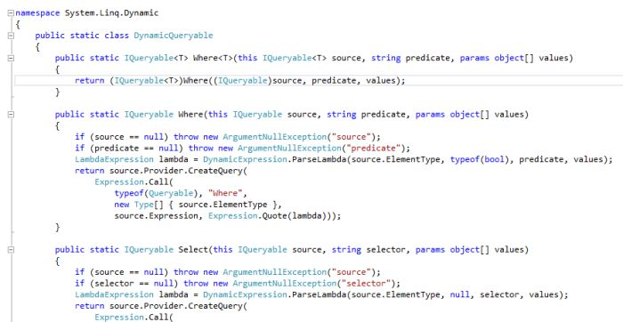 How to write dynamic query in linq