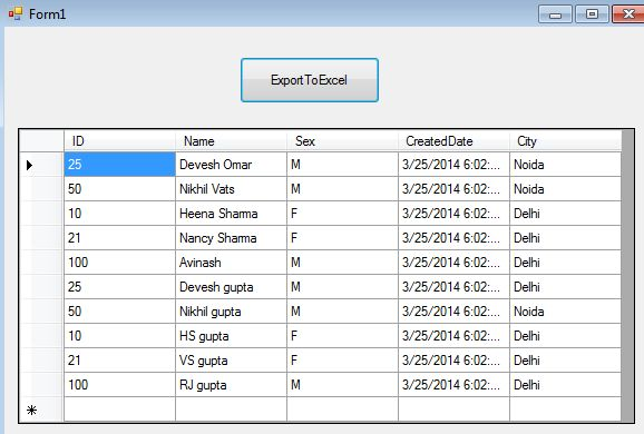 Exporting DataTable to Excel in C# Using Interop