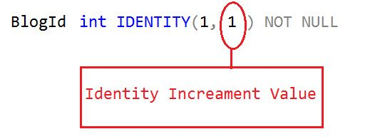 identity increment value