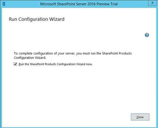 Step by step sharepoint 2016 preview installation guide
