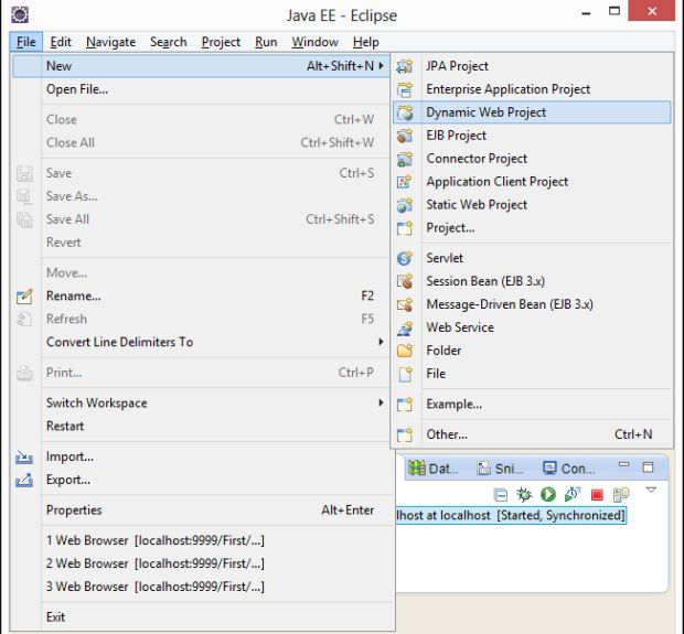 how to run jsp file on eclipse