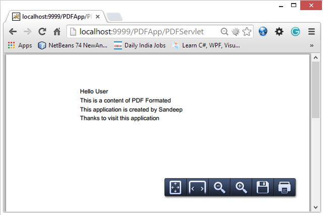how to read and write pdf file in java