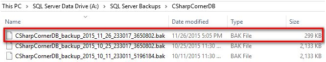 backup completed successfully