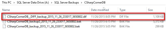 differential backup file