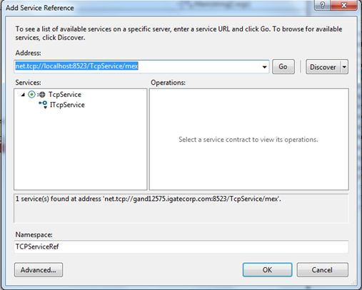 add reference to service endpoint address