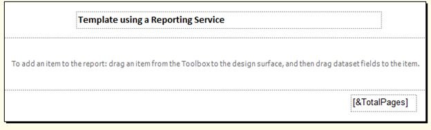 Report Template Using SQL Server Reporting Service SSRS – A Report Template