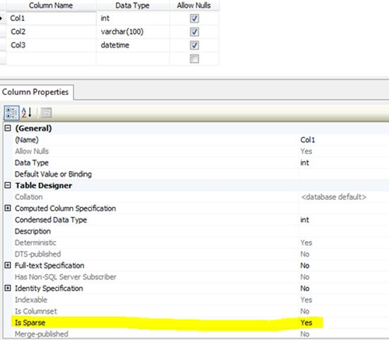Sparse column in sql server - Sql server alter table modify column ...