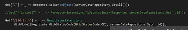 responce as json