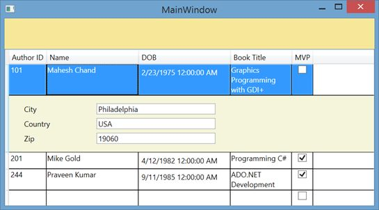 wpf datagrid control template mastering wpf datagrid in a day hour 7 data template