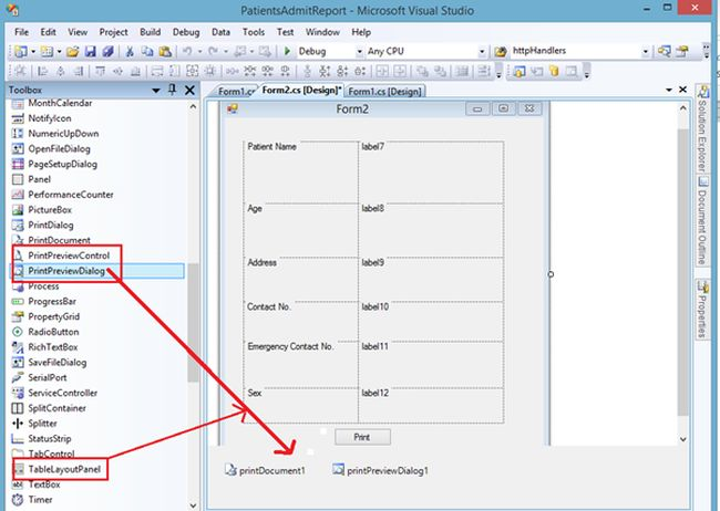 Print Receipt and Save Data Using Windows Forms in C#