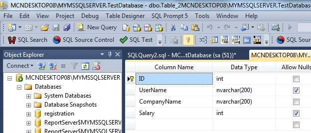Determine the second highest and nth highest salary from a - How to find a table in sql server management studio ...