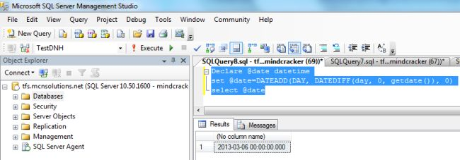 Sql get date without time in Brisbane