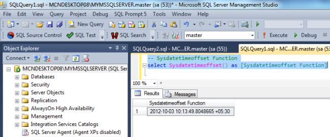 Sql server date functions