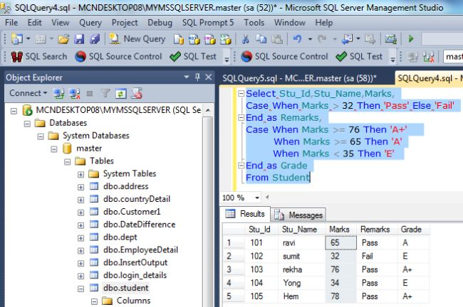 searched expression in sql serverjpg - Sql Report Writing