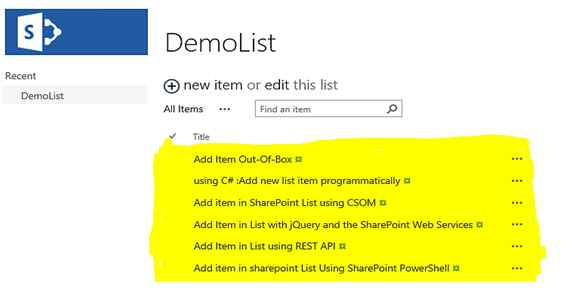 SharePoint 2013: Ways To Add Item In List - TechNet Articles