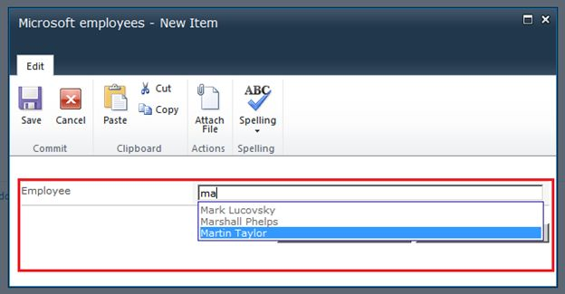 Fields Autocomplete for SharePoint 2010