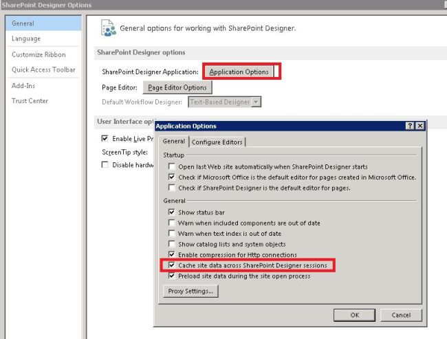 How to clear your sharepoint designer 20102013 cache ccuart Choice Image
