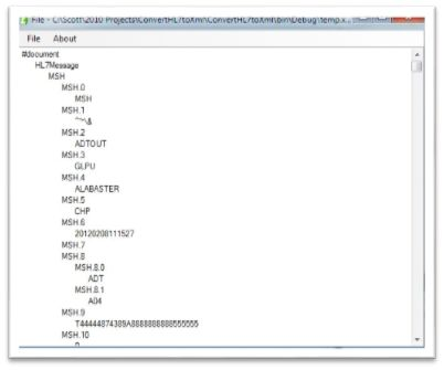 Application to Convert HL7 to XML