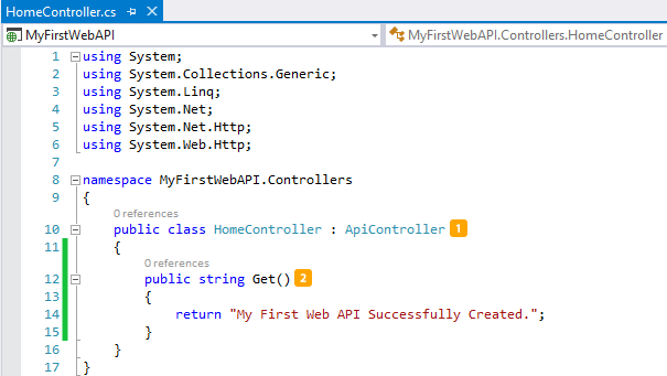 how to call web api get method from browser