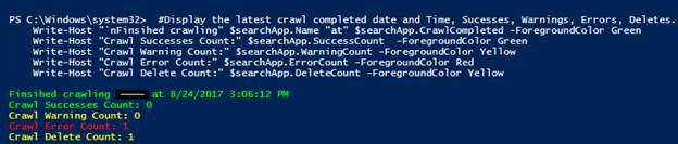 SharePoint Search Crawl