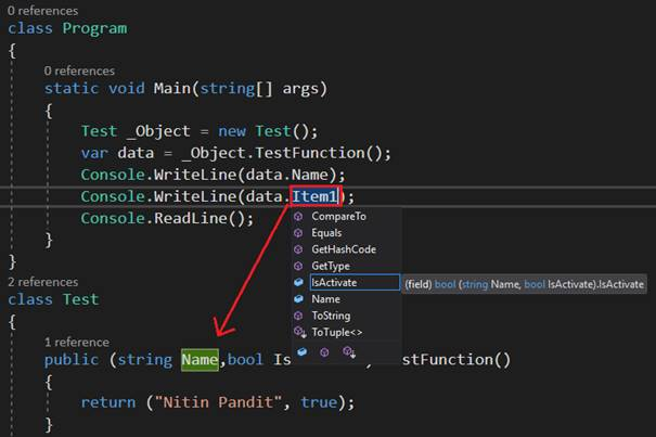 how to call a void function in visual studio