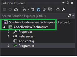 Properly named Solution and Project
