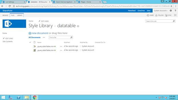 Bind sharepoint list data into jquery datatable using for Datatable css