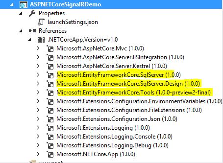 EF Core Packages restored