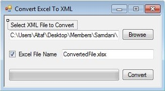 Convert XML File To Excel File
